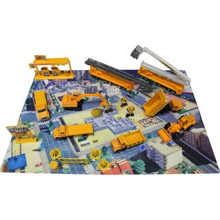 DimpleChild 40-piece Die Cast Metal Vehicles Construction Set
