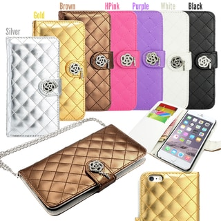 Gearonic Luxury Bling Flip Wallet Case for Apple iPhone 6 Plus 5.5""