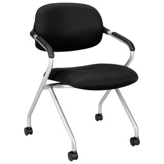 basyx by HON VL303 Series Black/ Silver Nesting Arm Chair