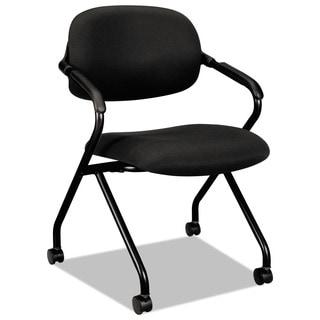 basyx VL303 Black/ Black Mesh Back Nesting Arm Chair