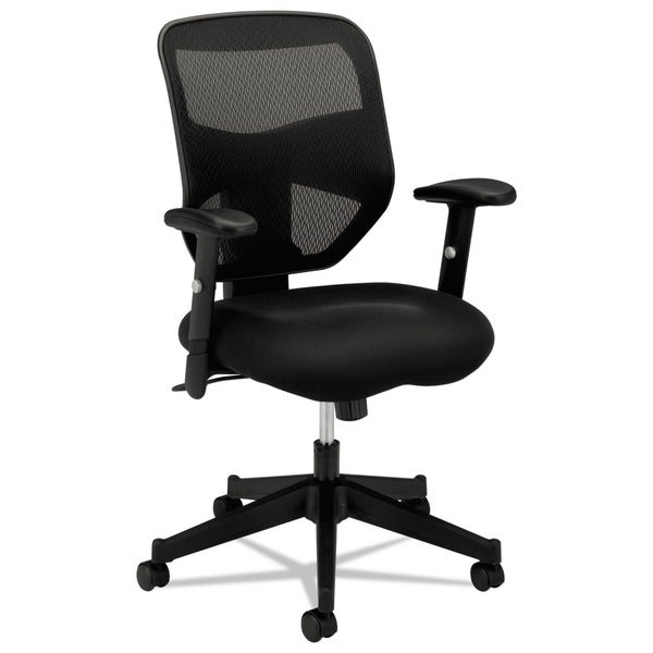 basyx VL531 High-back Padded Mesh Seat Black Work Chair
