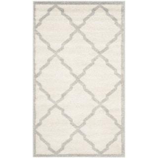 Safavieh Indoor/ Outdoor Amherst Beige/ Light Grey Rug (3' x 5')