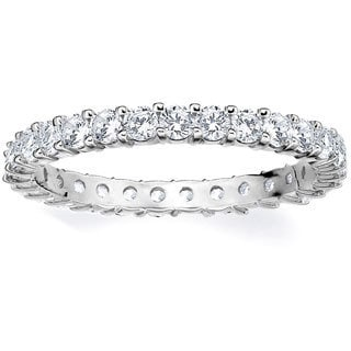 Amore Platinum 1ct TDW Shared Prong Diamond Wedding Band (G-H, SI1-SI2)