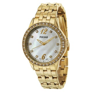 Pulsar Women's 'Night Out' Stainless Steel Yellow Goldplated Quartz Watch