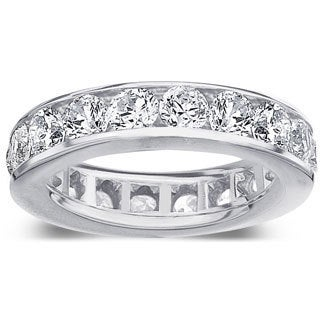 Amore Platinum 4ct TDW Channel Set Diamond Wedding Band (G-H, SI1-SI2)