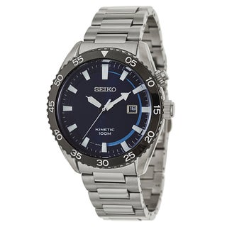 Seiko Men's 'Core' Stainless Steel Kinetic Powered Watch