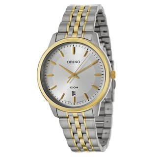 Seiko Men's 'Bracelet' Stainless Steel and Yellow Goldplated Quartz Watch