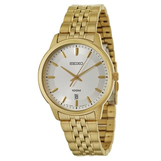 Seiko Men's SUR034 'Bracelet' Yellow goldplated stainless steel Quartz Watch
