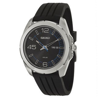 Seiko Men's 'Core' Stainless Steel Solar Powered Quartz Watch