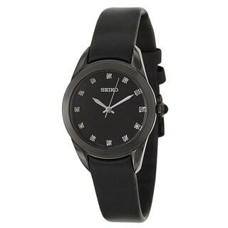 Seiko Women's 'Strap' Black Stainless Steel Quartz Watch