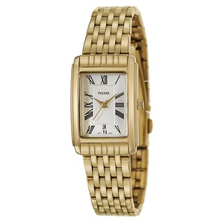 Pulsar Women's 'Traditional' Stainless Steel Yellow Goldplated Quartz Watch