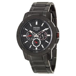 Pulsar Men's 'On The Go' Titanium black ion-plated Quartz Watch