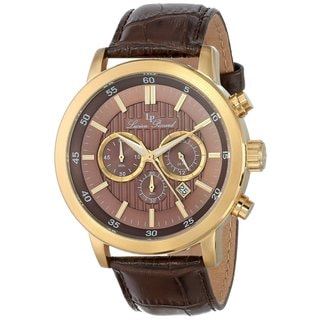 Lucien Piccard Men's LP-12011-YG-04 Monte Viso Brown Watch