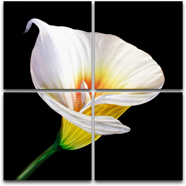 The Lily' 4-panel Large Metal Wall Art 14263249