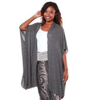 Hadari Women's Charcoal Draped Cardigan