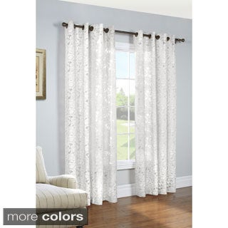 Charlotte Sheer Floral Burnout Curtain Panel Pair