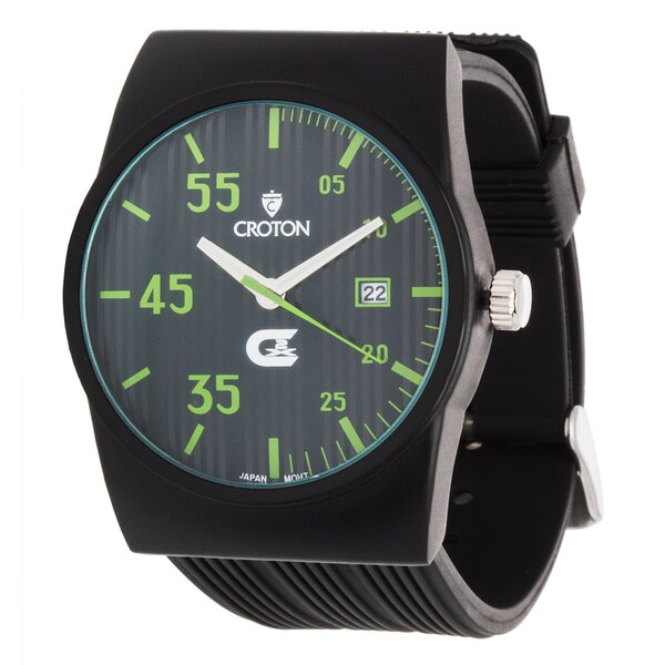 Croton CX328016 Mens Rubber Sport Quartz Date Watch