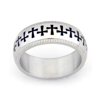Cross Design Stainless Steel Ring