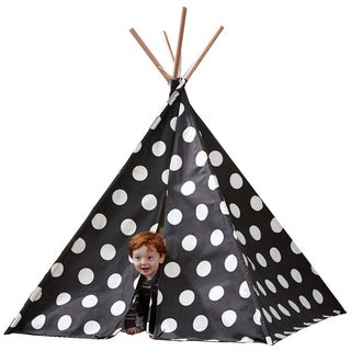 Children's Teepee Grey with White Polka Dots