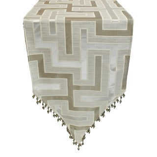 Austin Horn En' Vogue Maze Silver Grey Luxury Table Runner