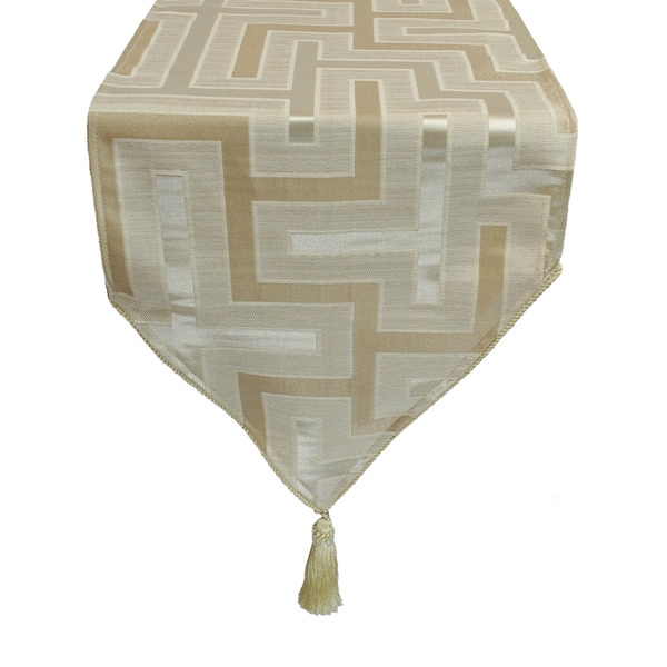 Austin Horn En' Vogue Maze Beige Luxury Table Runner