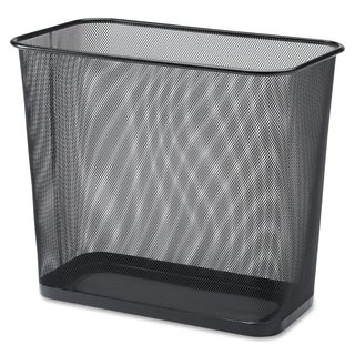 Lorell Black Mesh Rectangular Waste Bin