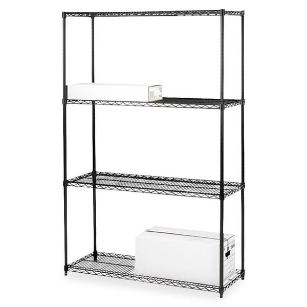 Lorell 4-Shelf Add-On Wire Shelving
