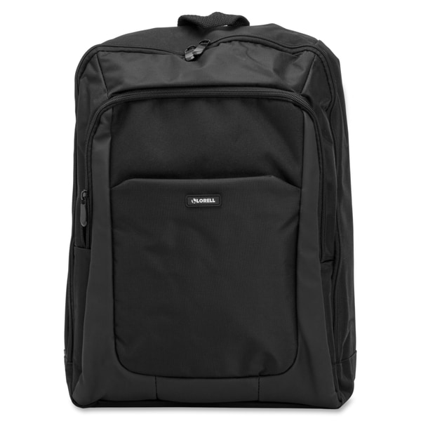 Lorell Carrying Case Backpack for 16-inch Notebook Black Fabric