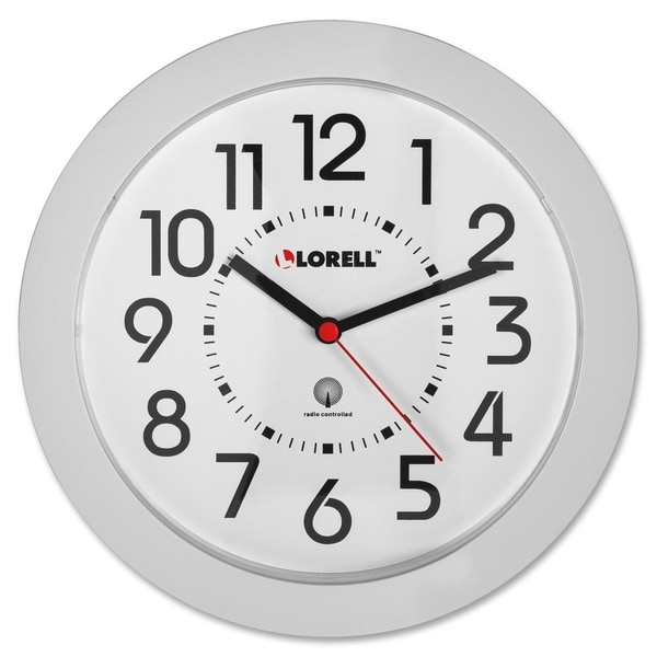 Lorell Round ProFile Radio Controlled Wall Clock