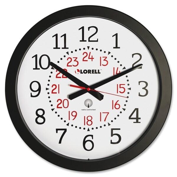 Lorell Radio Controlled Wall Clock Black
