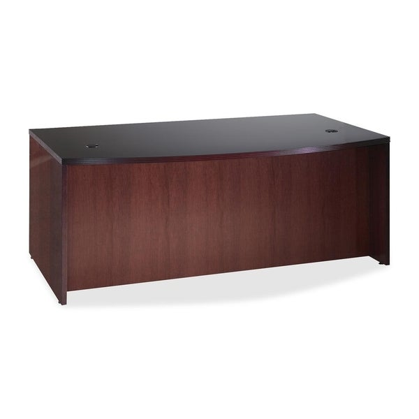 Lorell D-Shaped Bowfront Desk