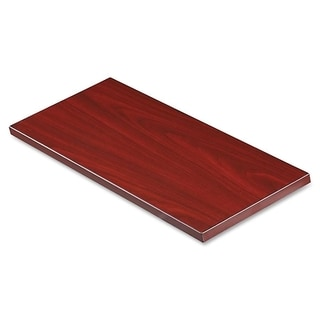 Lorell Desktop Panel System Transaction Top 30-inch Width in Mahogany