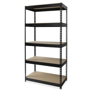 Lorell Riveted 5-compartment Metal Shelving