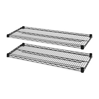 Lorell 4-Tier Wire Rack with Shelves