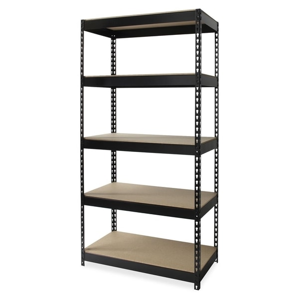 Lorell Riveted Metal Shelving