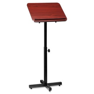 Lorell Tilt Platform Adjustable Floor Lectern - Mahogany