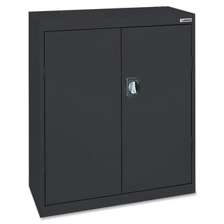 Lorell Fortress Series Black 3-shelf Storage Cabinet