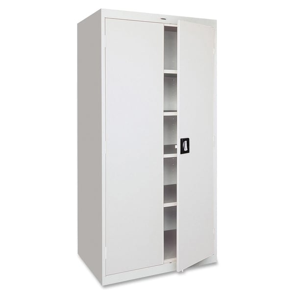 Lorell Fortress Series Light Grey Storage Cabinet