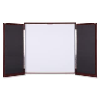Lorell Presentation Cabinet Mahogany Melamine/ Fabric