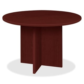 Lorell Prominence 79000 Series Mahogany Round Conference Table