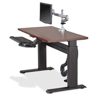 Lorell Height-adjustable Workstation Tabletop 60-inch x 24-inch Mahogany Fabric