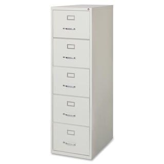Lorell Commercial Grade Light Grey 28.5-inch Legal-size Vertical Files