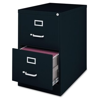 Lorell Commercial Grade 28.5-inch Legal-size Heavy-duty Black Vertical Files