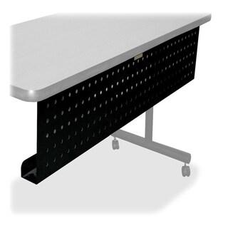 Lorell Rectangular Training Table Metal Modesty Panel
