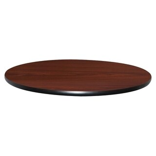 Lorell Round Mahogany Hospitality Breakroom Table Top