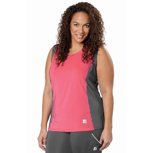 Live Life Large Women's Plus Size Color Block Tank Top