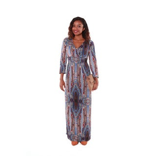 Hadari Women's Mutlicolored Paisley Maxi Dress