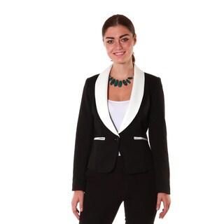 Hadari Women's Black Tux Blazer