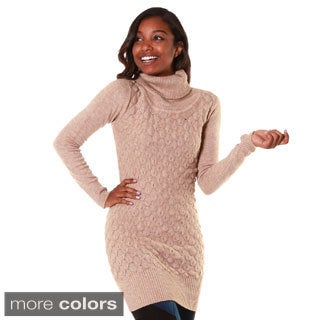 Hadari Women's Cashmer Blend Long Sleeve Turtle Neck