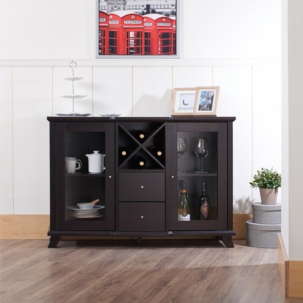 Furniture of america synthie cappuccino multi storage for Best furniture stores in usa
